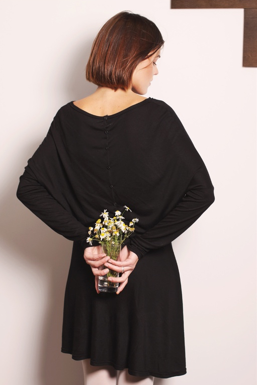 LeMuse black SUNFLOWER dress