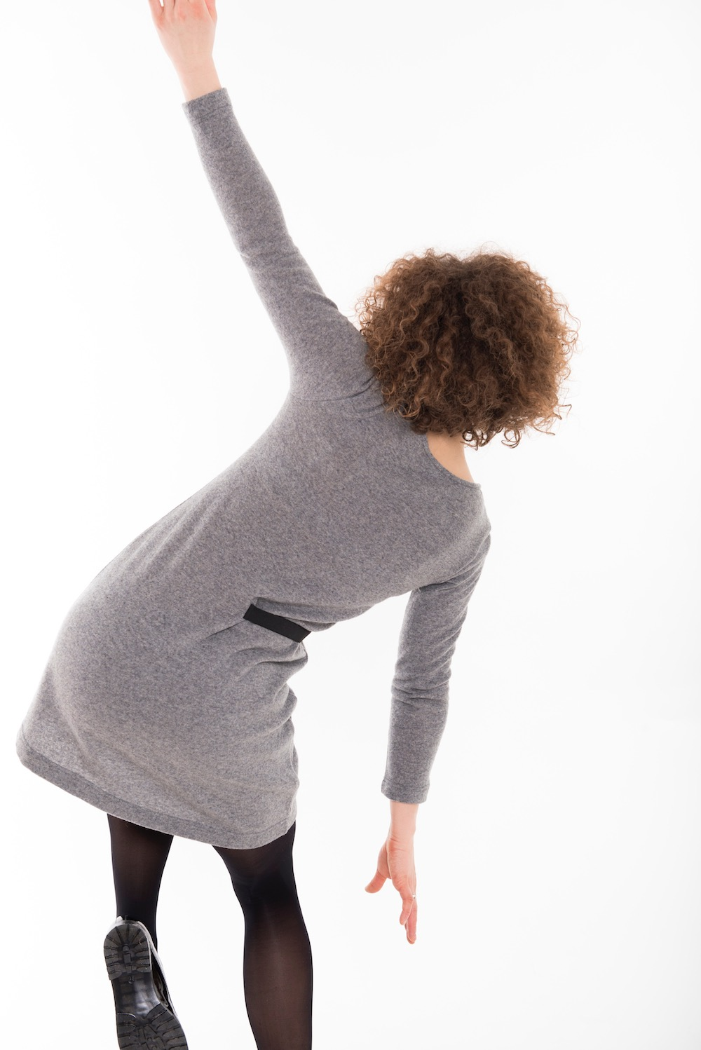 LeMuse gray DANCE woolen dress