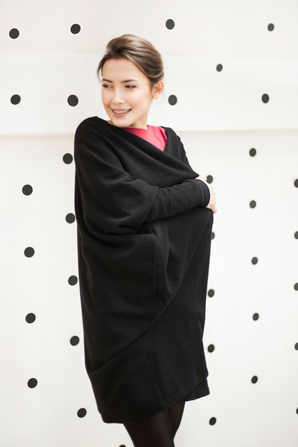 LeMuse black WIDE cardigan
