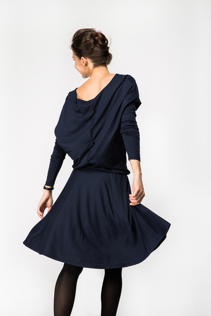 LeMuse deep blue SUNFLOWER dress