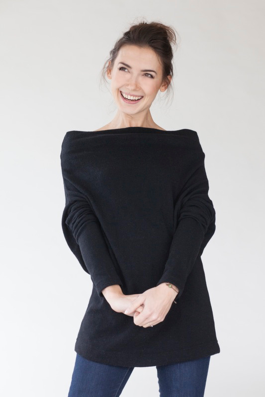 Black sweater in wool WINTER