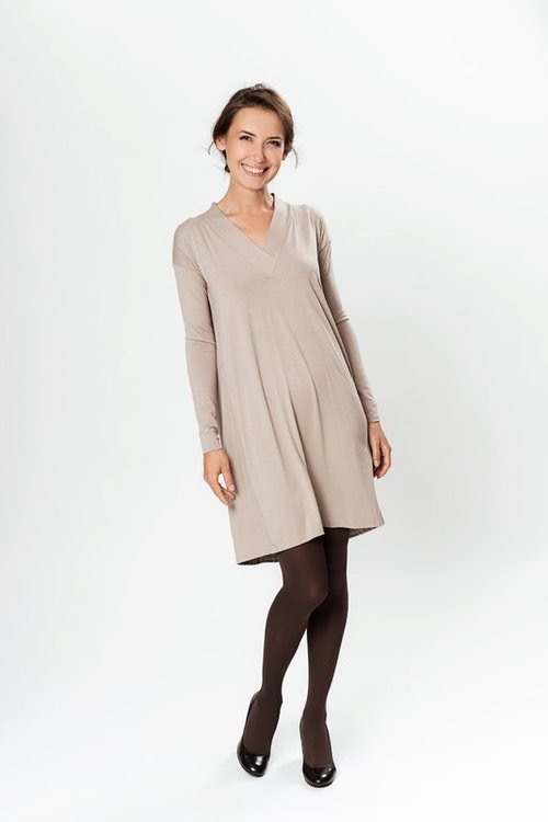 LeMuse creamy LE PASSION dress