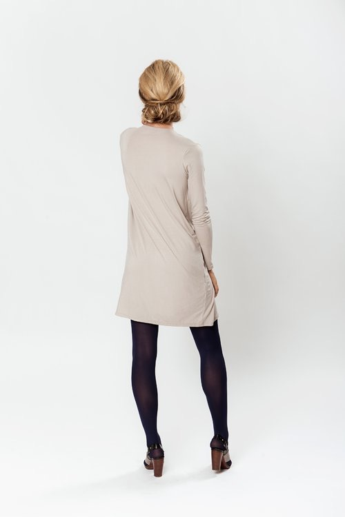 LeMuse SAND dress with buttons