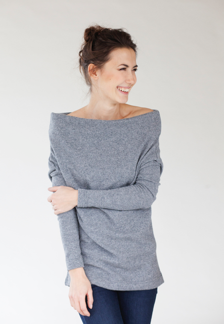 Grey wool sweater WINTER