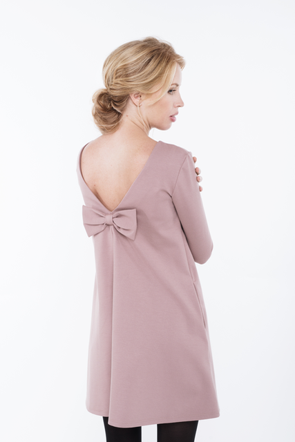 LeMuse dusty rose LOVE dress