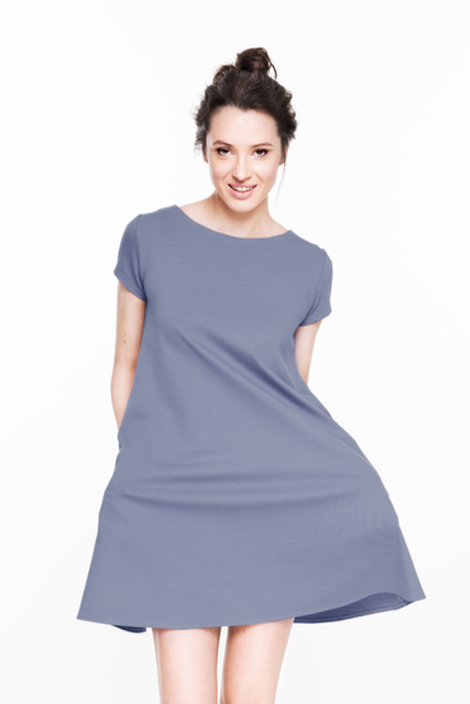 LeMuse light blue SUMMER CALMNESS dress with buttons