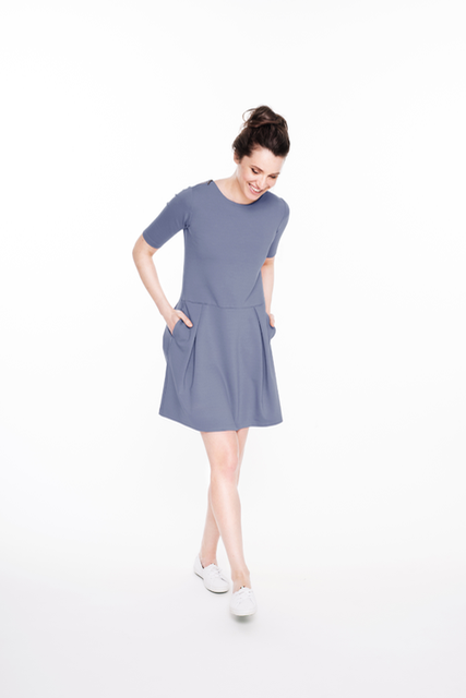 LeMuse light blue SOFIA SUMMER dress with a pockets