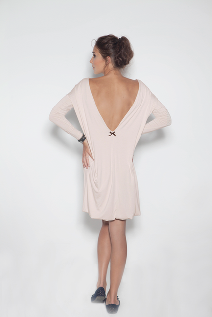 LeMuse nude MILK AND HONEY openback dress