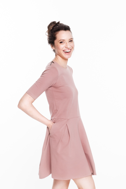 LeMuse dusty rose SOFIA SUMMER dress with a pockets