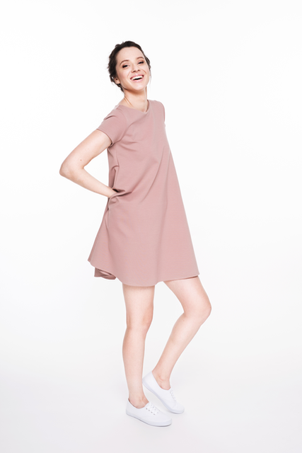 LeMuse dusty rose SUMMER CALMNESS dress with buttons