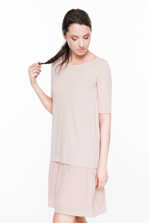 LeMuse nude TOUCH silky dress