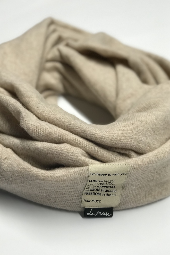 LeMuse cream CONNECTED scarf