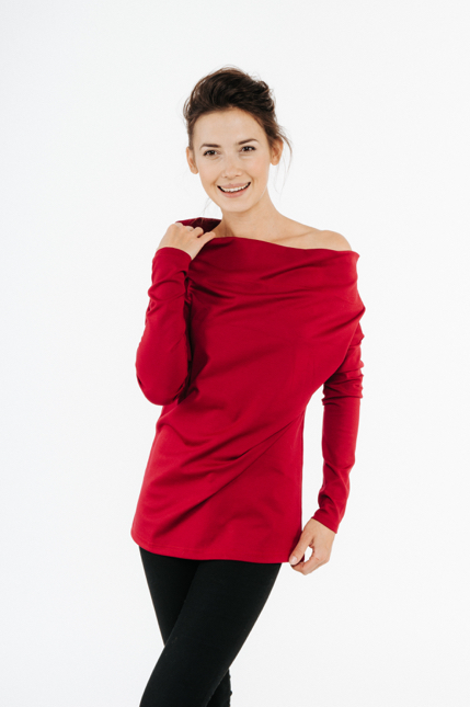 LeMuse red MAGIC blouse