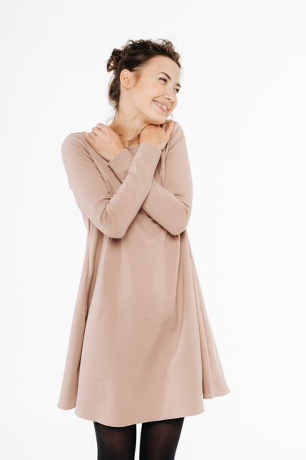LeMuse nude CALMNESS dress with buttons