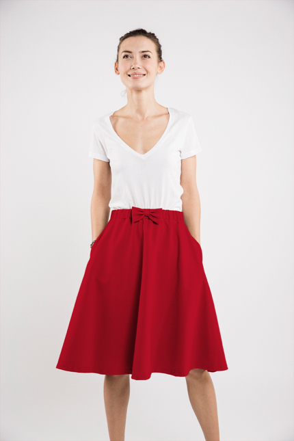 LeMuse red CINDY skirt