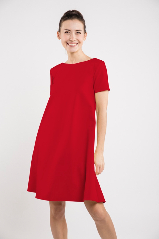 LeMuse red SUMMER CALMNESS dress with buttons