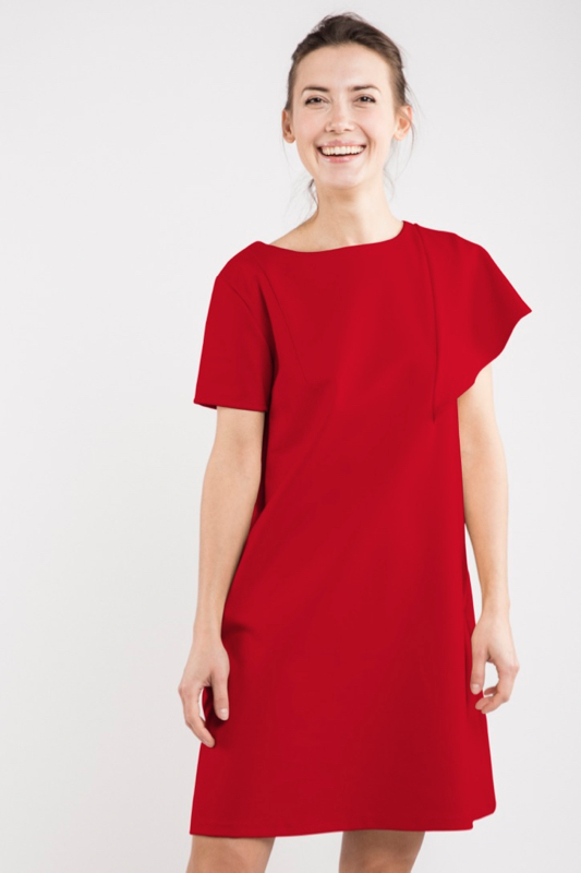 LeMuse red SUMMER WING dress