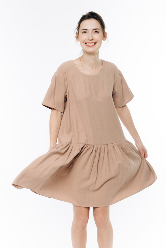LeMuse sand NIDA dress