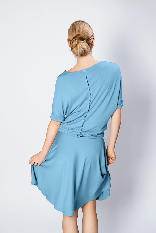 LeMuse light blue SUMMER SUNFLOWER dress