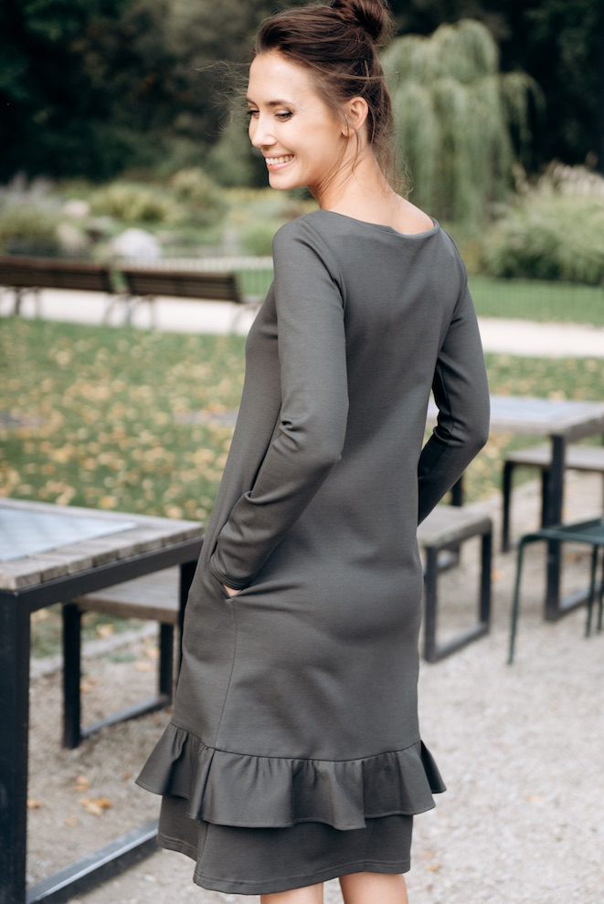 LeMuse gray-green JOY dress