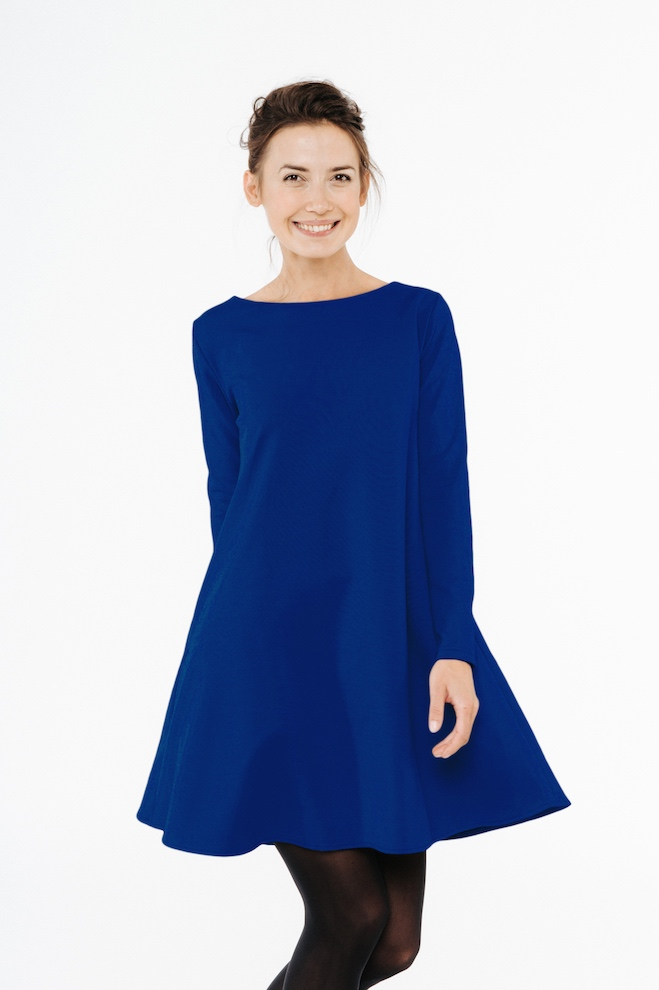 LeMuse royal blue CALMNESS dress with buttons