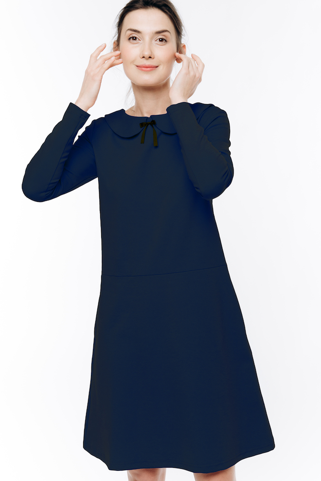 LeMuse deep blue PARISIAN dress