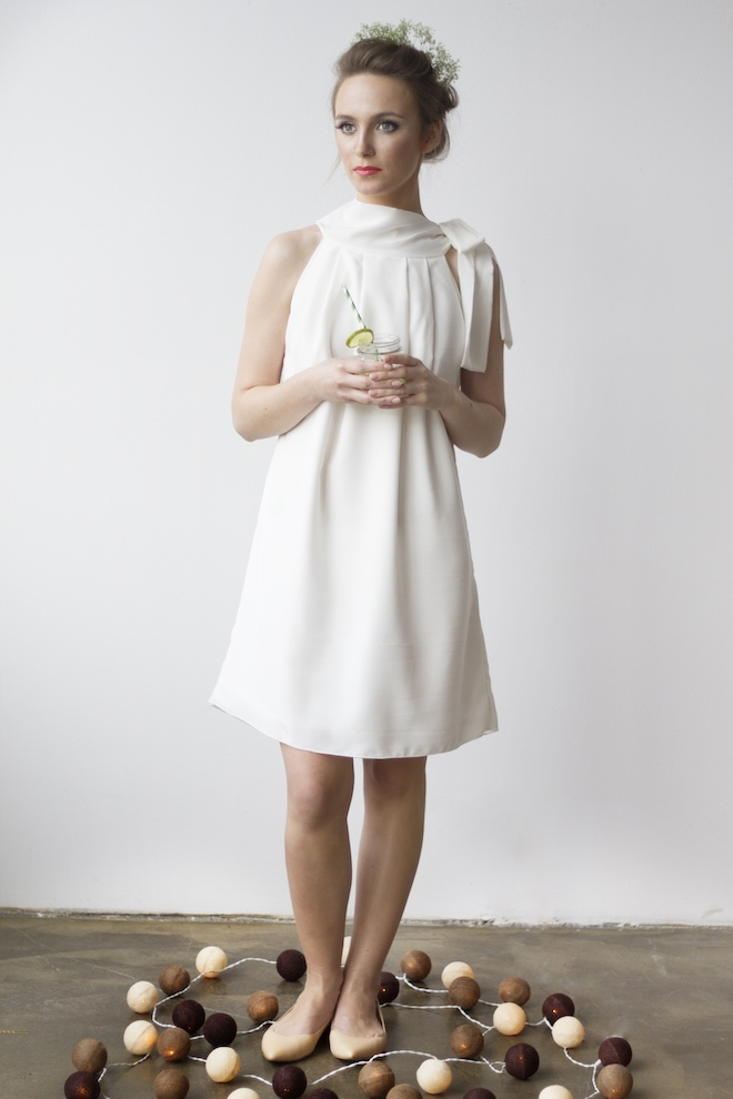 LeMuse white NAIVE wedding silk dress