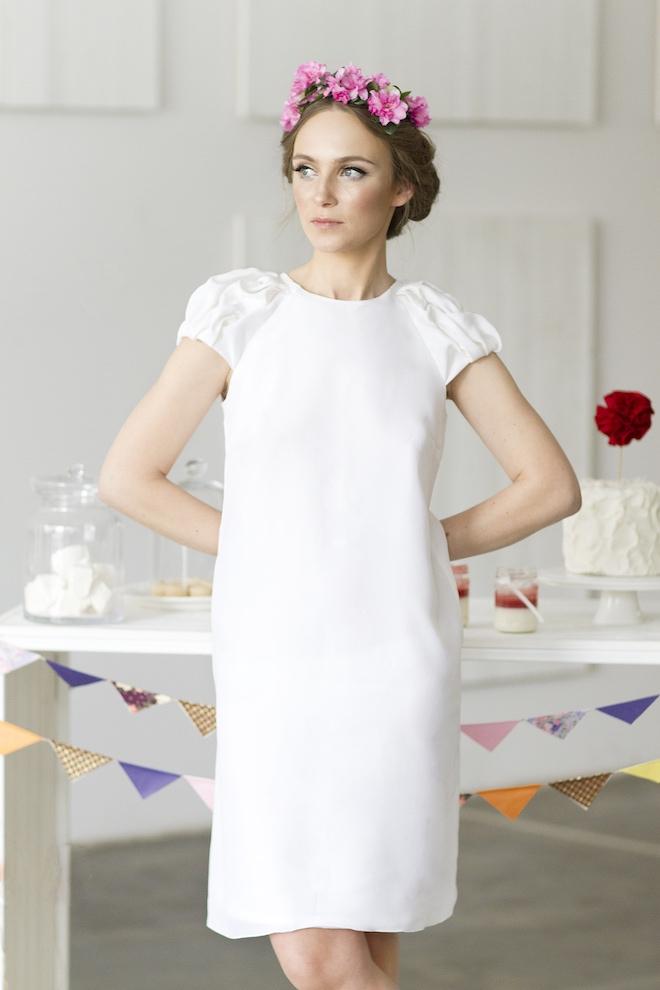 LeMuse white SWEET KISS wedding silk dress