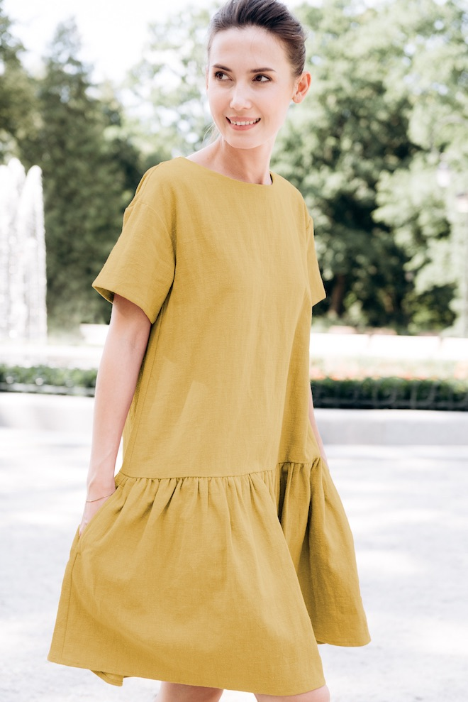 Summer holiday dress in yellow BLOSSOM