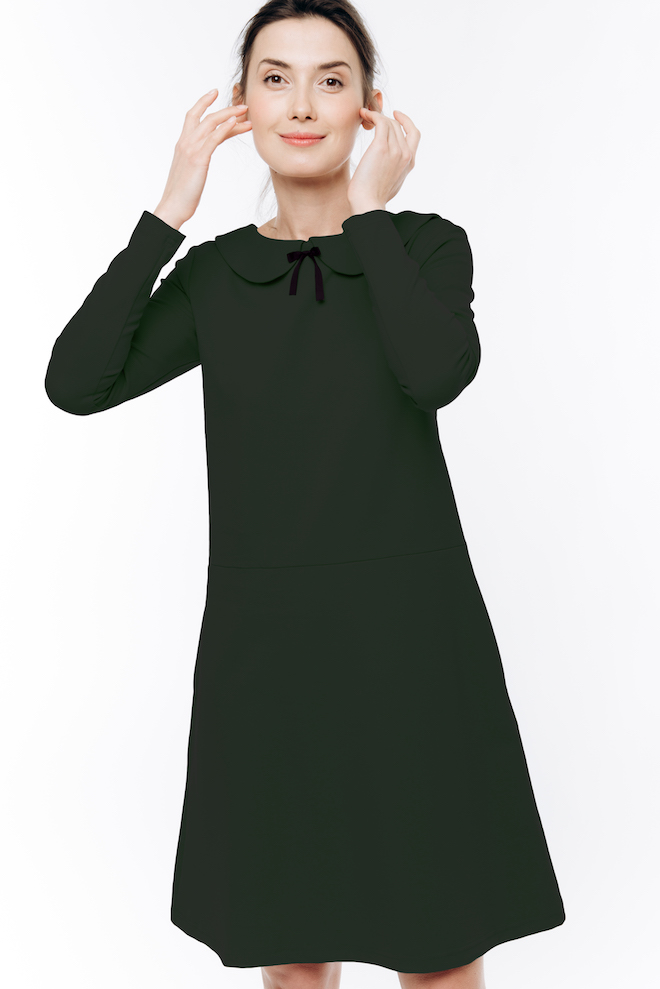 LeMuse gray-green PARISIAN dress