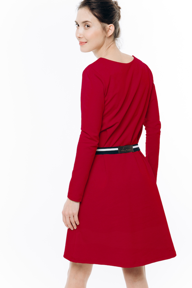 LeMuse red AMOUR dress
