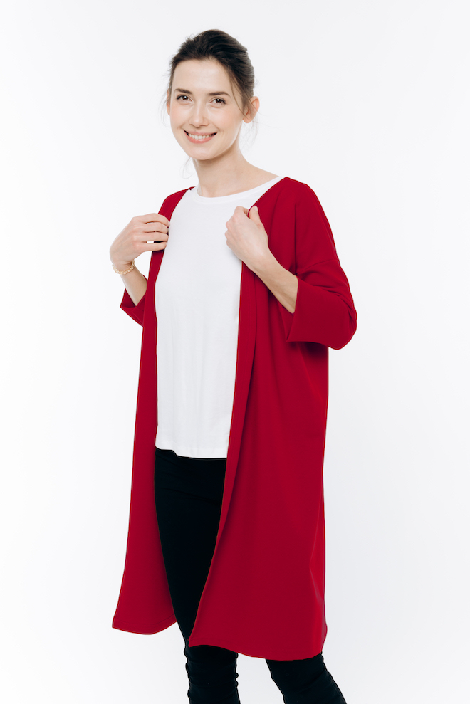 LeMuse red SWEET cardigan
