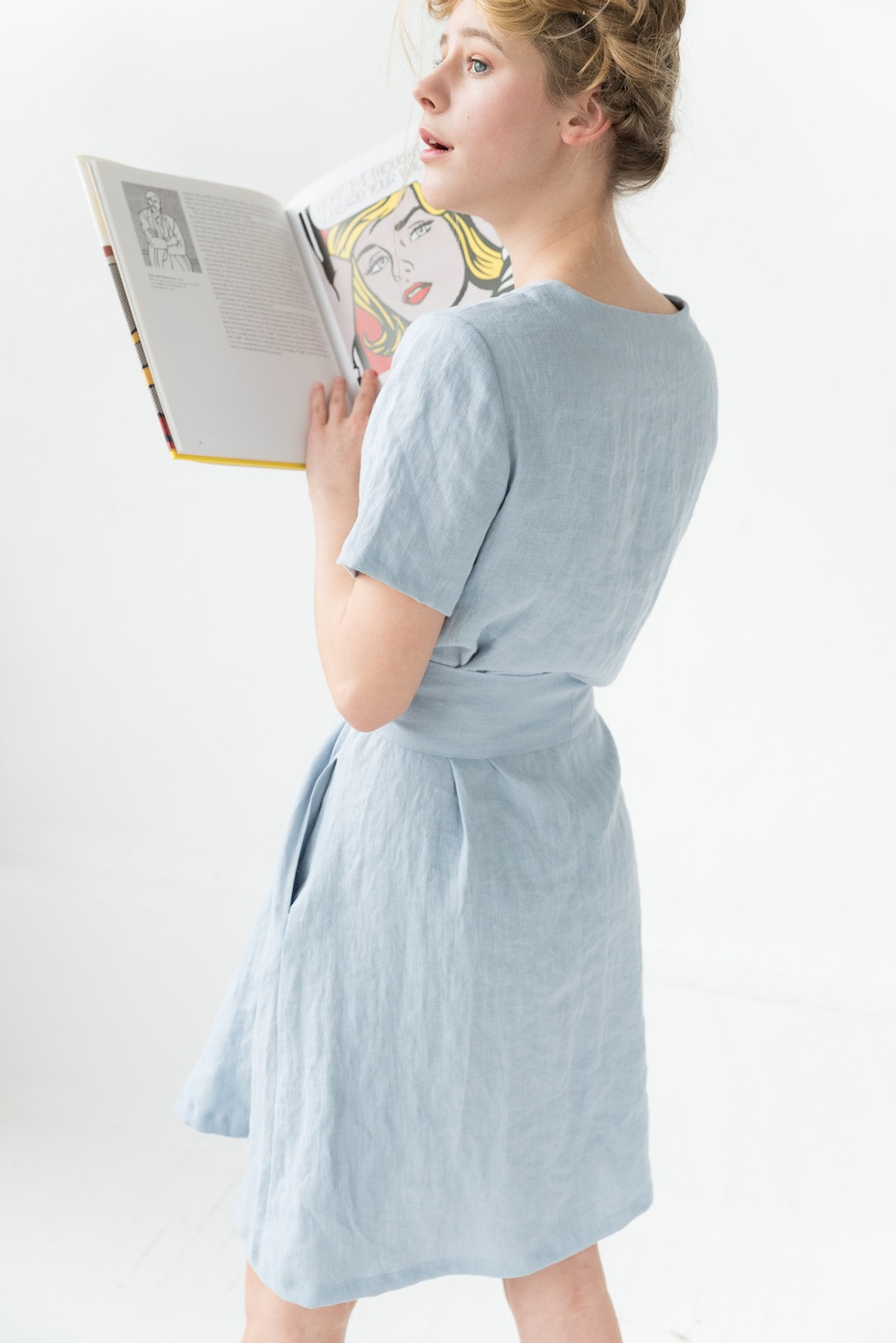Light blue linen dress MARINE