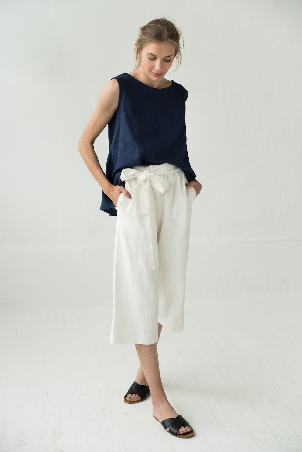 White linen pants MIX&MATCH