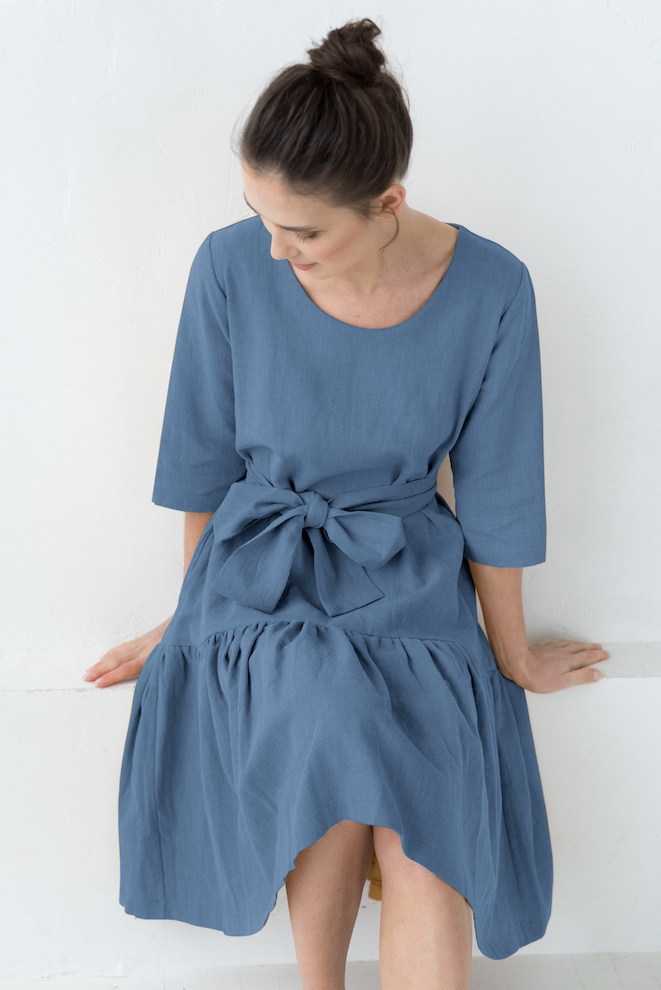 Summer dress in blue MIA