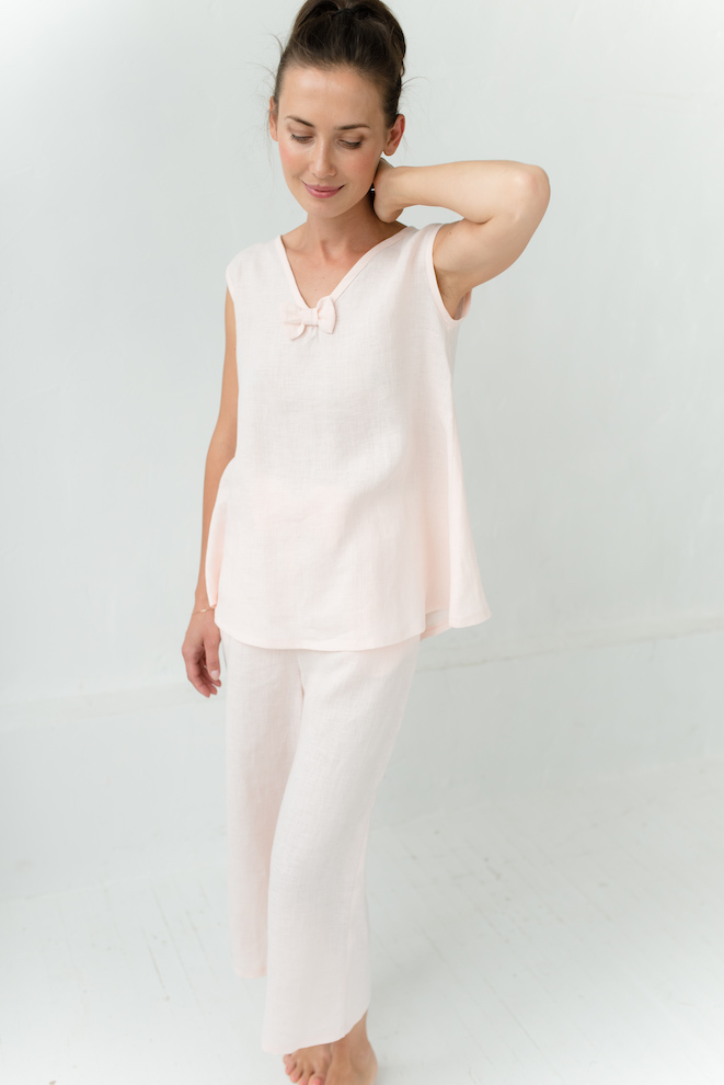 Linen nightshirt in rose SLEEP