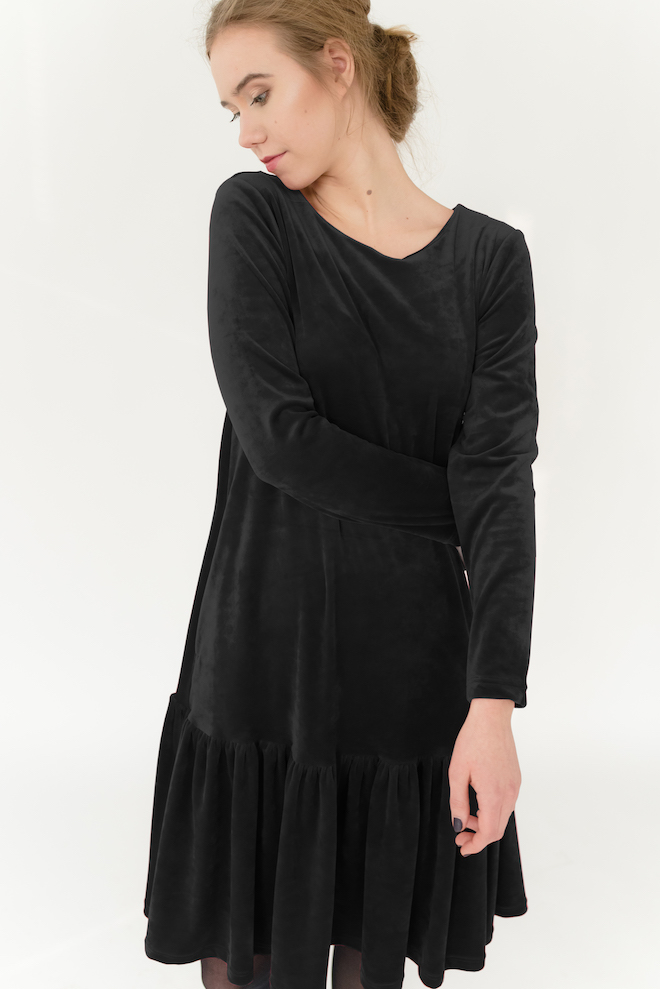 LeMuse black DISCO velvet dress