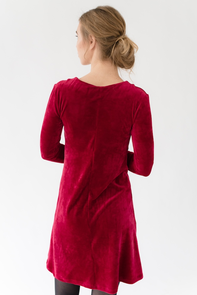 LeMuse red JOLIE velvet dress