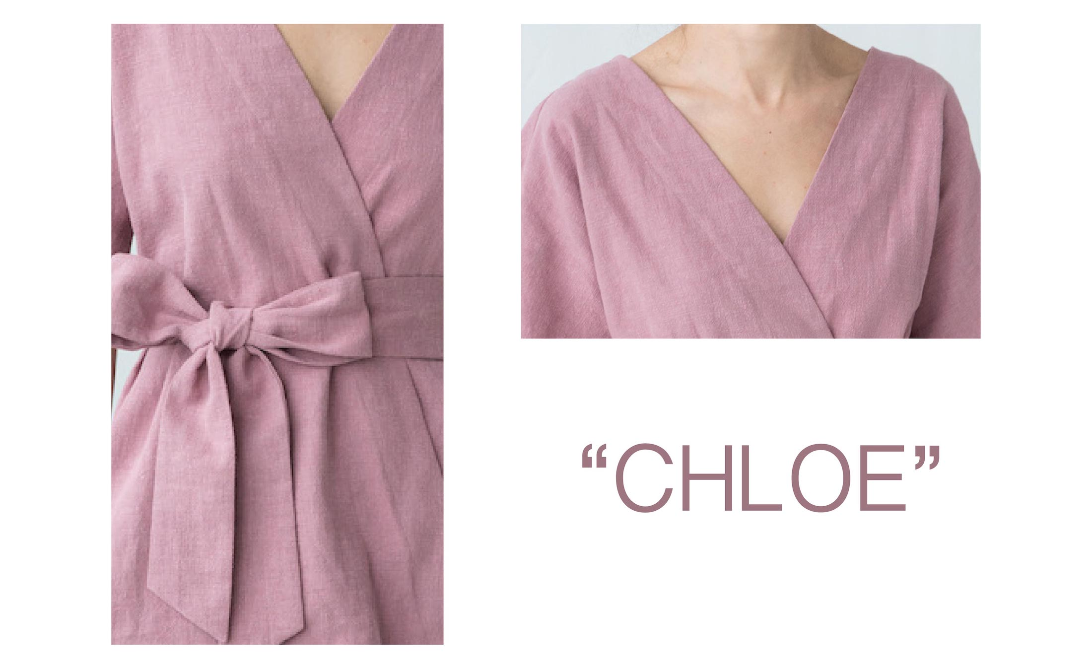 Sundress in dusty rose CHLOE