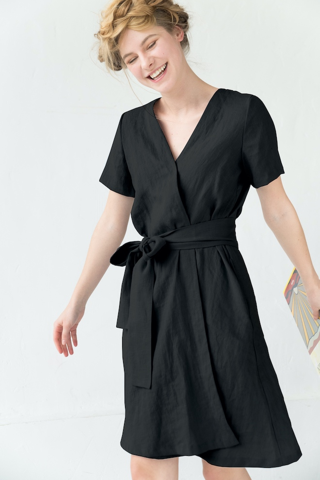 LeMuse black MARINE linen dress