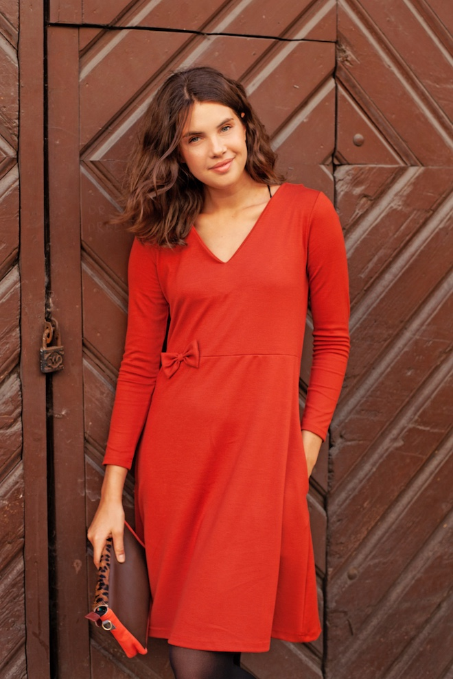 LeMuse brick red CELIA dress