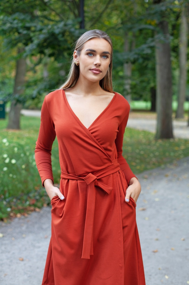 LeMuse brick red MERCI dress