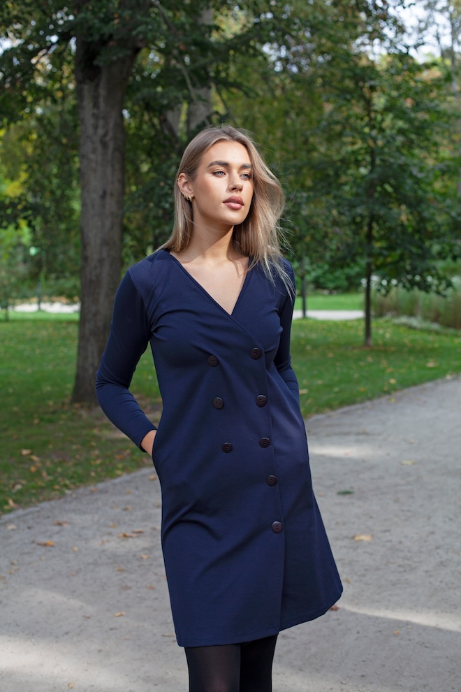 LeMuse deep blue UMA dress