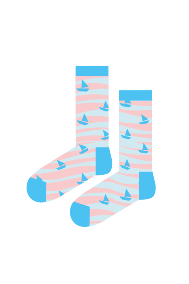 Sky blue BOATS socks